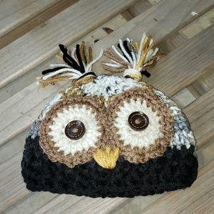 Other - 🐞Crochet owl beanie